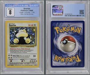 Pokémon Snorlax Holo 11/64 Error CGC 8 NM/Mint 1999 Jungle Unlimited
