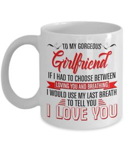 To My Girlfriend Mug Tasse 11 oz environ 311.84 g cadeau pour elle de Boyfriend I Love You