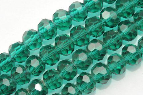 P4-06 25 FACETTIERTE GLASPERLEN 8 MM PETROL