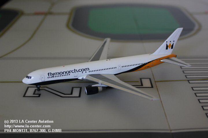 Phoenix Model Monarch Airlines Boeing 767-300ER Old color Diecast Model 1 400