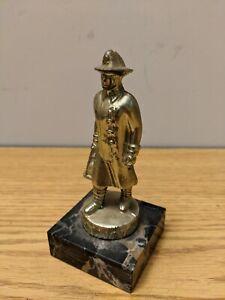 Vintage-Firefighter-Trophy-Fireman-Award-Marble-Base-4-5-034-tall