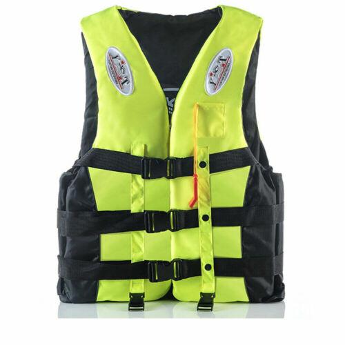 Kids Adult Life Jacket Buoyancy Aid Universal Swimming Boating Ski Kayak Vests