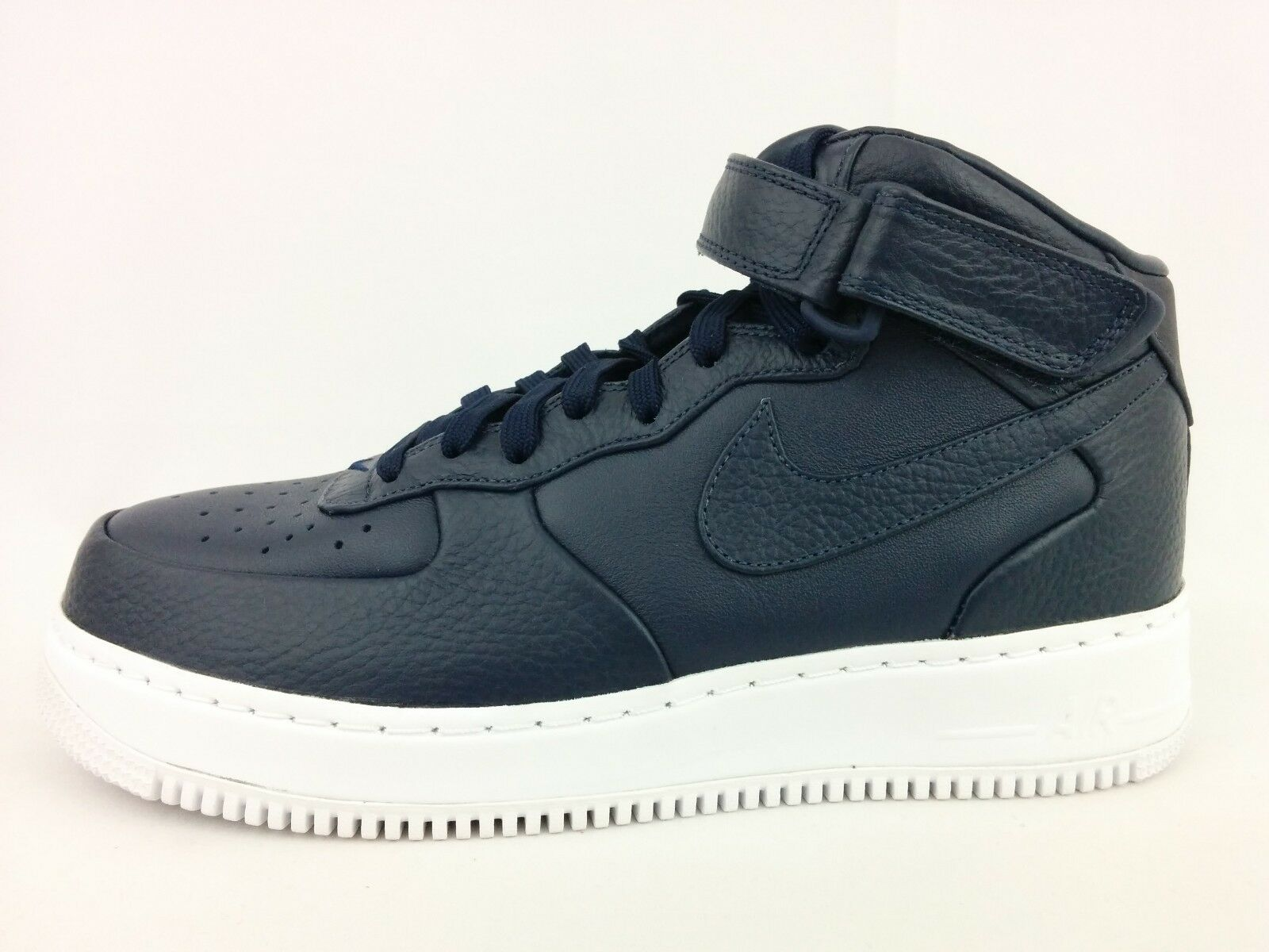 Brand New  Nike NikeLab Air Force 1 Mid Obsidian Blue Sneakers 819677-400 Comfortable