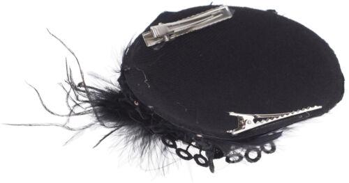 Vintage APPOLINA Feather FEDER Strass LACE 50s PILLBOX Hütchen Fascinator Rocka