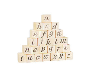 Image Is Loading Wooden Alphabet Letter Rubber Stamp Set Ink Pad