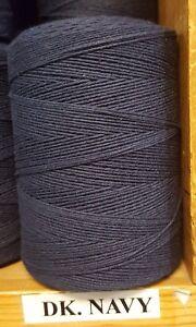 Color Black Spools- 8//4 Polyester Rug Warp- Lot of 24 1//2 lb ea