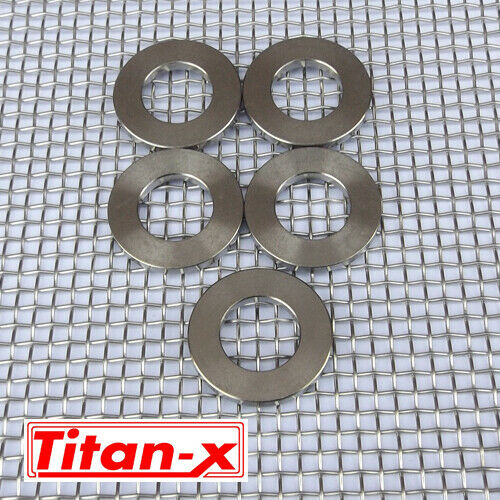5x M12  Titanium Washers  6AL-4V-GR5  M12 in packs of  5