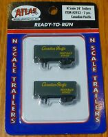 Atlas N 2933 Canadian Pacific Piggy-back Service (2 Pack) 24' Trailers
