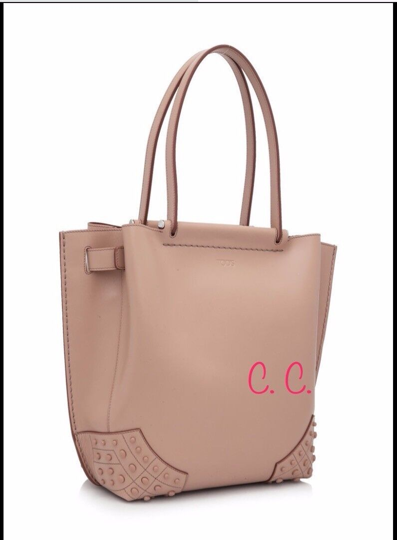 87d8884069d Tod's Small Wave Shopping Bag (pink Calfskin Leather) | eBay