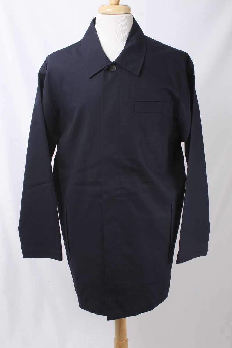 Austin Reed London Size L Navy bluee 100% Cotton Lightweight Coat 375 L111D