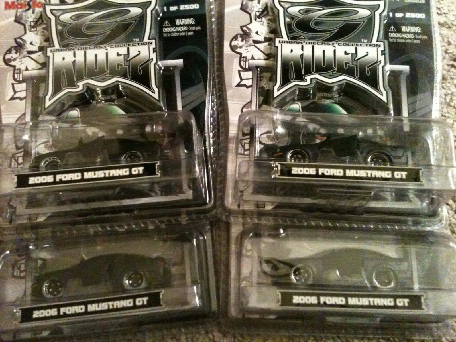 MAISTO RIDEZ 2006 FORD MUSTANG GT LOT (4 CARS TOTAL)