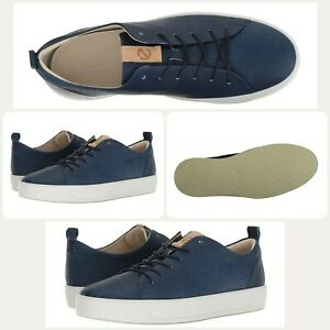 weltweit verkauft vielfältig Stile Durchsuchen Sie die neuesten Kollektionen Details about ECCO Men's Soft 8 Tie Fashion Sneaker Indigo Powder Blue Moon  (Size US 8-8.5)