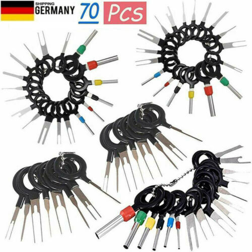 70 Stück Set Pin Ejector Wire Kit Extractor Auto Terminal Removal Connector