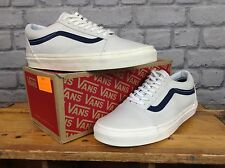 VANS MENS UK 6 EU 39 LIGHT GREY LEATHER OLD SKOOL TRAINERS *DIFFERENT SIZES*