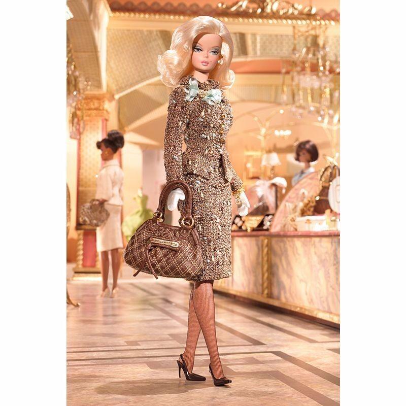 Modelo de moda Colección Tweed, de hecho, oro Label Barbie Muñeca De Colección