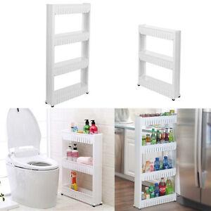 Slim slide out kitchen trolley rack holder storage shelf for Slim kitchen wall units