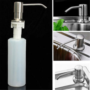 Image Is Loading Kitchen Soap Dish Dispenser Stainless Steel  Detergent Faucet