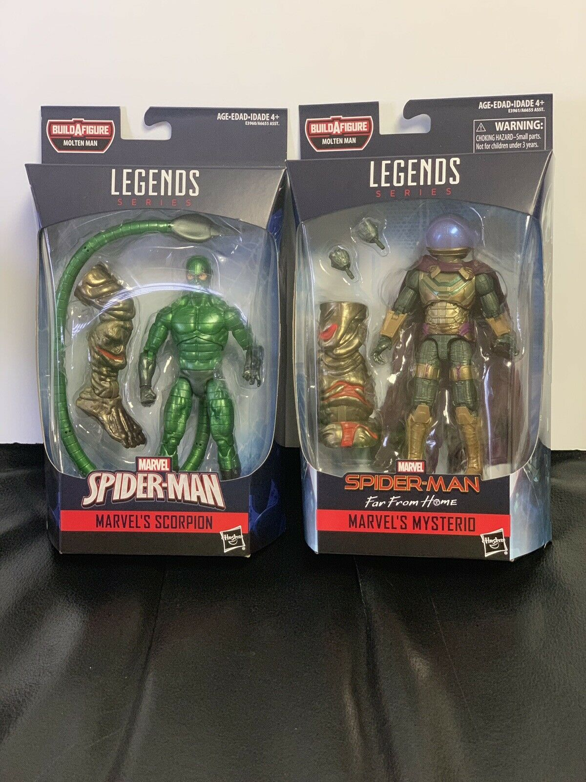 MARVEL LEGENDS-MYSTERIOUS  & THE SCORPION FAR FROM HOME - - MOLTEN MAN BAF -