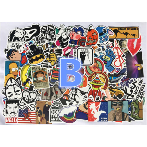 Stickers 50//100 Skateboard Laptop Decal Luggage Random Cartoon Christmas Car DIY