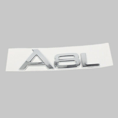 """Chrome /"""" A 8/"""" Trunk Rear Number Letters Words Badge Emblem Sticker for Audi A8"""