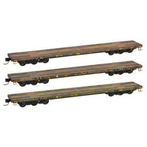 Micro-trains MTL N DODX Flat Car Olive Drab Weathered 3pk 99305520