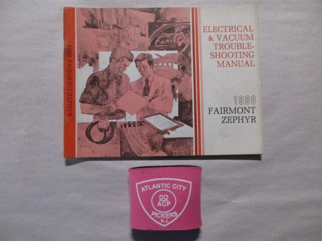 1980 FORD FAIRMONT ZEPHYR ELECTRICAL VACUUM ...