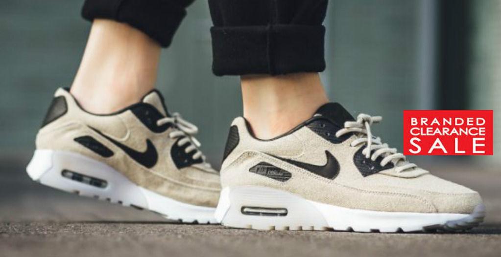 BNIB New New New Women Nike Air Max 90 Ultra PRM PREM PREMIUM Oatmeal Size 3 4 5 6 7 UK 0d5346