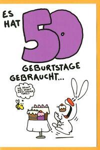 Riesen Grusskarte 50 Geburtstag Humor Karte Nic Show Es Hat 50