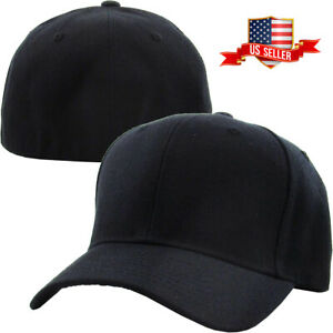official store sale ever popular Details about Plain Fitted Baseball Cap Curved Visor Solid Blank Color Caps  Hat Hats - 9 SIZES
