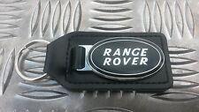 P38 Range Rover Black Enameled Top Quality Stylish Leather Key Ring Fob