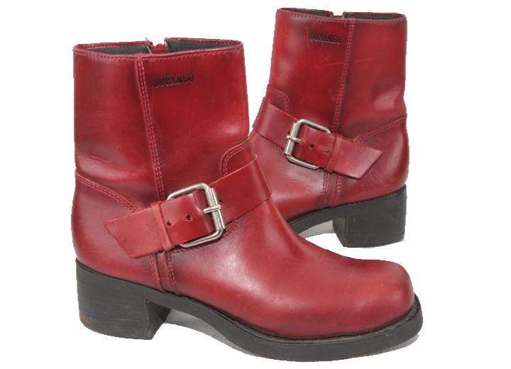 Durango RO3455 Damen Rotes Leder Kurze Stiefel US 10 UK 7.5 Eu 42 367 P