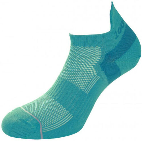 1000 Mile Double Layer Trainer Liner Ladies Running Socks Green