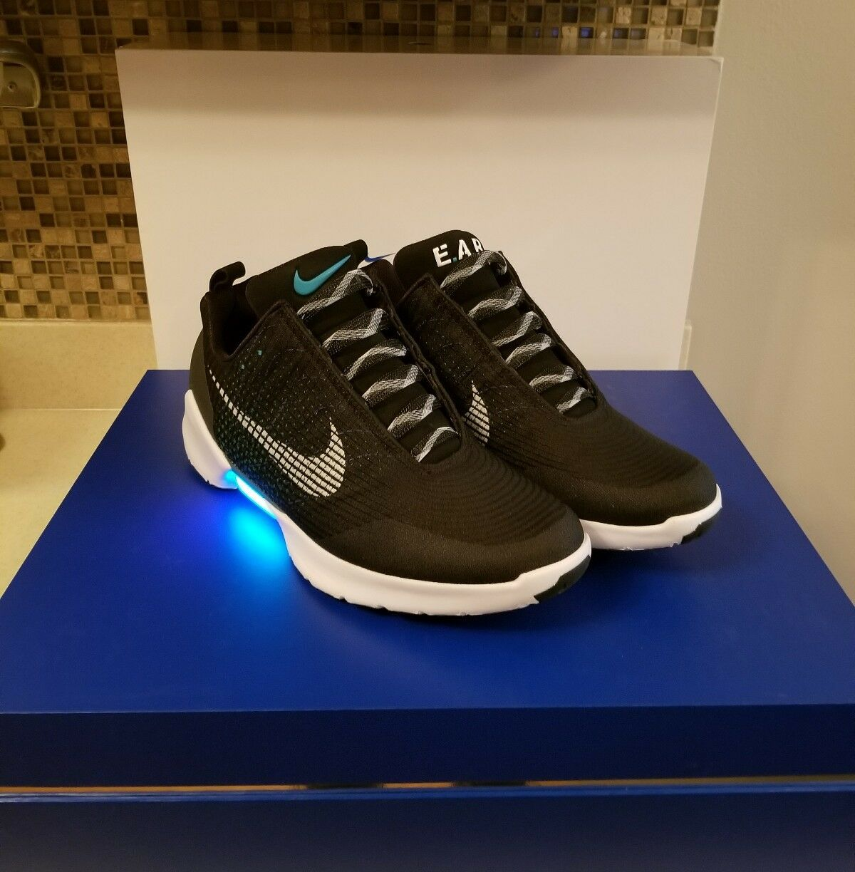 New Nike Hyperadapt 1.0 Self Power Lacing Size 13 Black EARL Special 1st Release