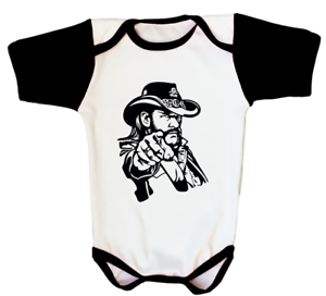 AC//DC AC DC BABY IN BLACK ROCK METAL MUSIC INFANT ONE PIECE ROMPER BODYSUIT
