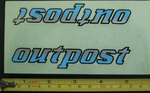 Lot de 2 GT OUTPOST Autocollant Decals//VTT//Poudre Bleu//Argent//Gris Noir