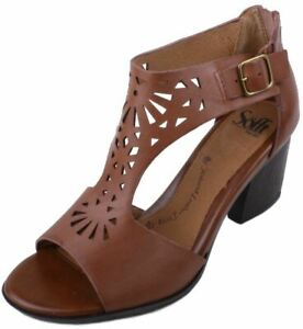 Sofft-Parminda-Womens-Cymbal-Tan-Leather-T-Strap-Sandals-Size-9