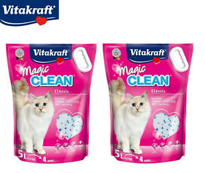 MAGIC-CLEAN-2-X-5L-CAT-KITTEN-LITTER-SILICONE-CRYSTAL-ANTIBACTERIAL-ODOUR-4-4KG