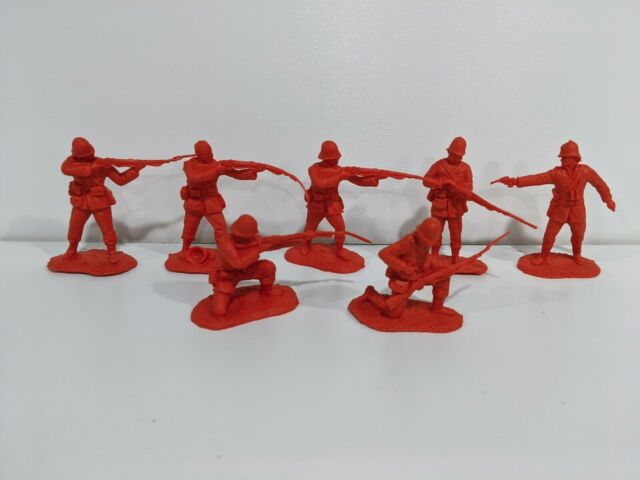 Conte Zulu Wars British 24th Foot 7 Figures Firing/Loading Poses Unplayed 1/32