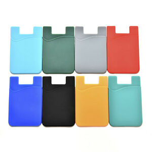 Silicone-Mobile-Phone-Wallet-Credit-Card-Cash-Stick-Adhesive-Holder-Case-1PC9Q9