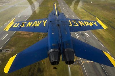 Candid Blue Angels Jet Invertierter Flight 12x18 Silber Halogen Fotodruck Transport Luftfahrt & Zeppelin