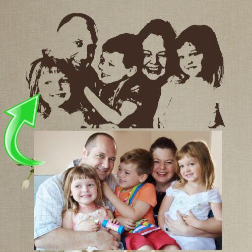 Custom Family Photo Wall Sticker Home Transfer Kids Decal Decor Stencil Graphics