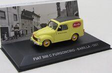 Fiat 500 C Furgoncino Transporter ( 1951 ) gelb / Altaya 1:43