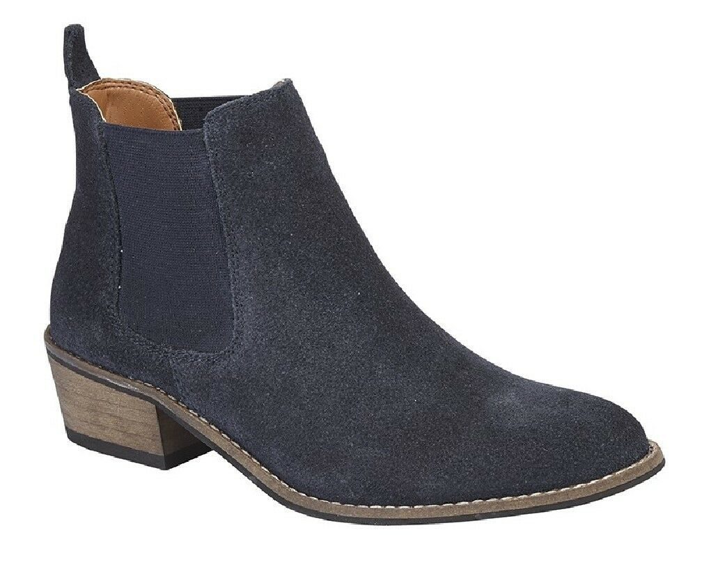 Cipriata L5058 Sabrina Sabrina Sabrina Women's Suede Leather Slip On Ankle Boots Navy 9eab50