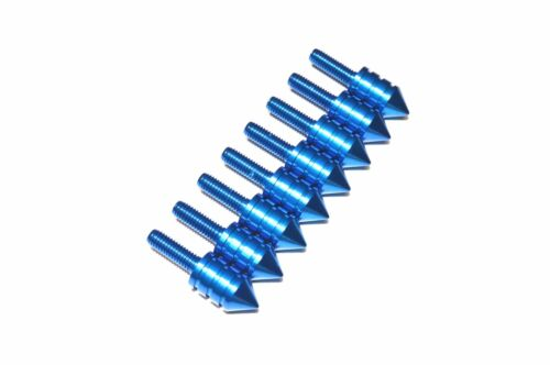 Blue Aluminum Motorcycle Spiked Bolts Screw for Windscreen 1 2 4 6 8 10 PC