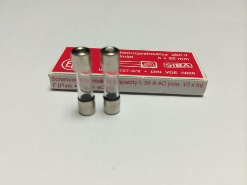 SIBA 70 001 34 179020 2.5A rápida golpe Vidrio Fusible 5 20mm 250V Paquete de 10 jpsf 139