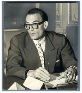 France-Serge-Bromberger-journaliste-et-ecrivain-francais-Vintage-Tirage-ar