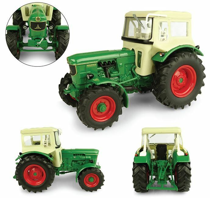 Deutz D6005 4wd With Cabin Tractor 1:32 Model 5253 UNIVERSAL HOBBIES | Finement Traité