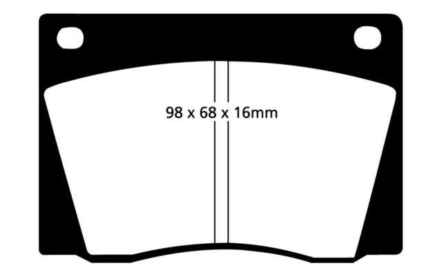 EBC REDSTUFF BRAKE PADS FRONT DP31735C CERAMIC - SPORT
