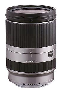 Tamron Objectif 18-200mm Di III VC F3.5-6.3 Argent pour Sony NEX (monture Type E