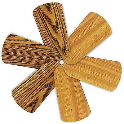 "Replacement Blades for 30-32"" Ceiling Fan 6/pk Reversible Med Oak / Teak_236-B55"